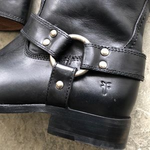 Frye Shoes - NWT Frye Tall Harness Riding Boot Black